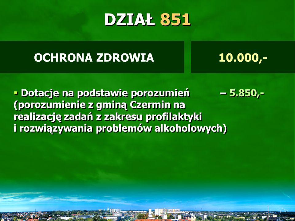 DZIAŁ 801 Dotacje celowe za zadanie zlecone – 62.500,- (program – Romowie) Dotacje na zadania własne – 15.754,- Dotacje na inwestycje – 605.847,- (Kolegium, Sala SP 11) Środki na program SOCRATES – 17.569,- Dotacje na podstawie porozumień – 5.850,- Dotacje celowe za zadanie zlecone – 62.500,- (program – Romowie) Dotacje na zadania własne – 15.754,- Dotacje na inwestycje – 605.847,- (Kolegium, Sala SP 11) Środki na program SOCRATES – 17.569,- Dotacje na podstawie porozumień – 5.850,- OŚWIATA I WYCHOWANIE708.740,-