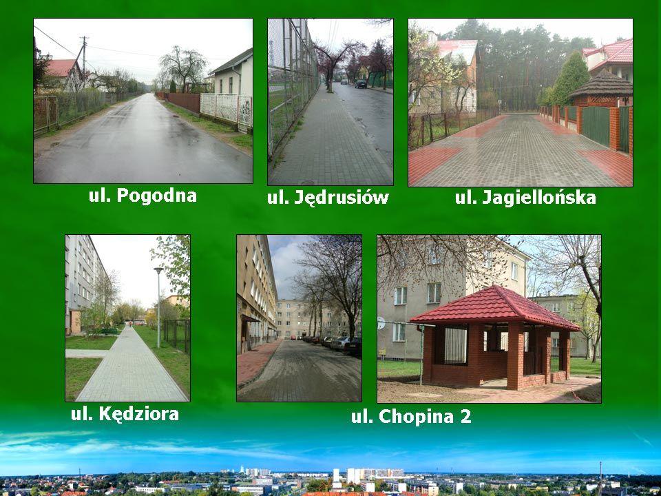 Remonty ulic w 2004 r.1. ul. Pogodna 2. ul. Jędrusiów 3.