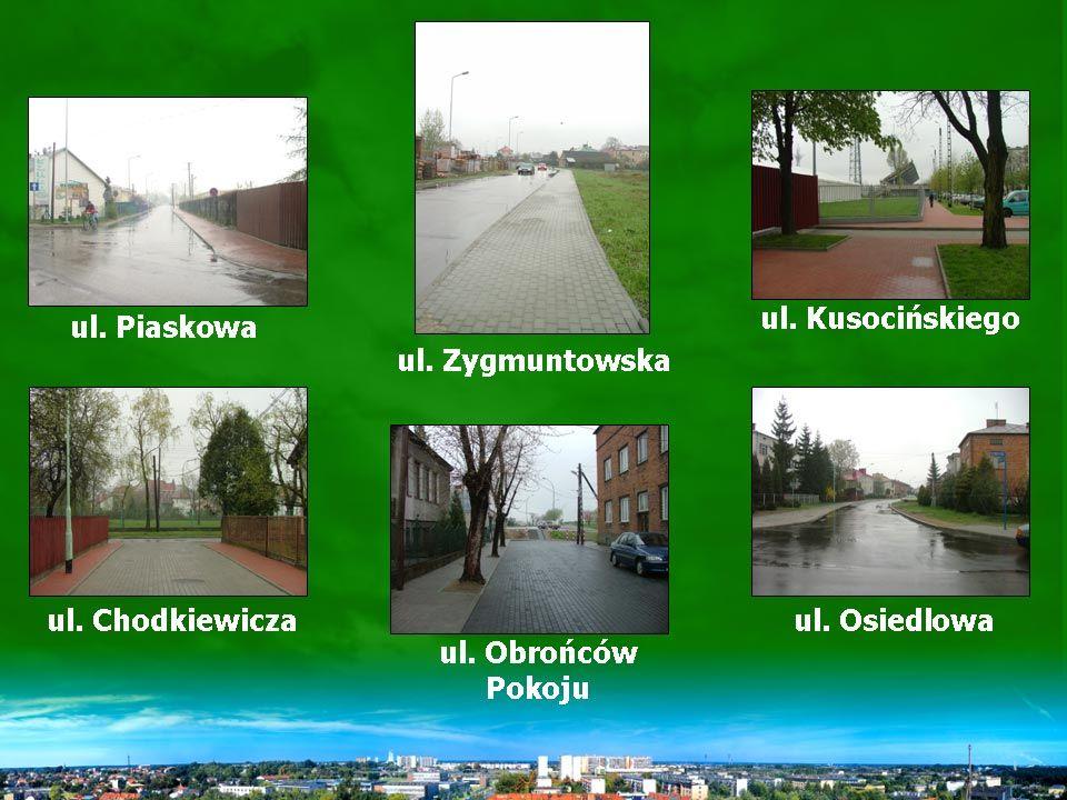 Remonty ulic w 2004 r.8. ul. Piaskowa 9. ul. Obrońców Pokoju 10.