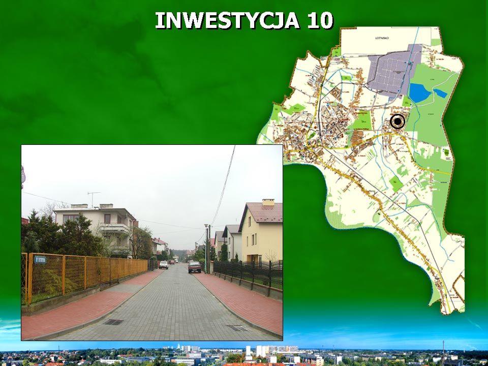 INWESTYCJA 10 zakres rzeczowy - 120 mb ulicy o nawierzchni z kostki brukowej oraz chodnik o powierzchni 483,5 m 2 - zadanie zakończono.