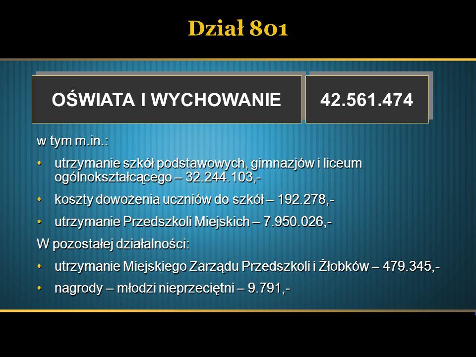 Dział 851 OCHRONA ZDROWIA OCHRONA ZDROWIA 846.184 wydatki f.