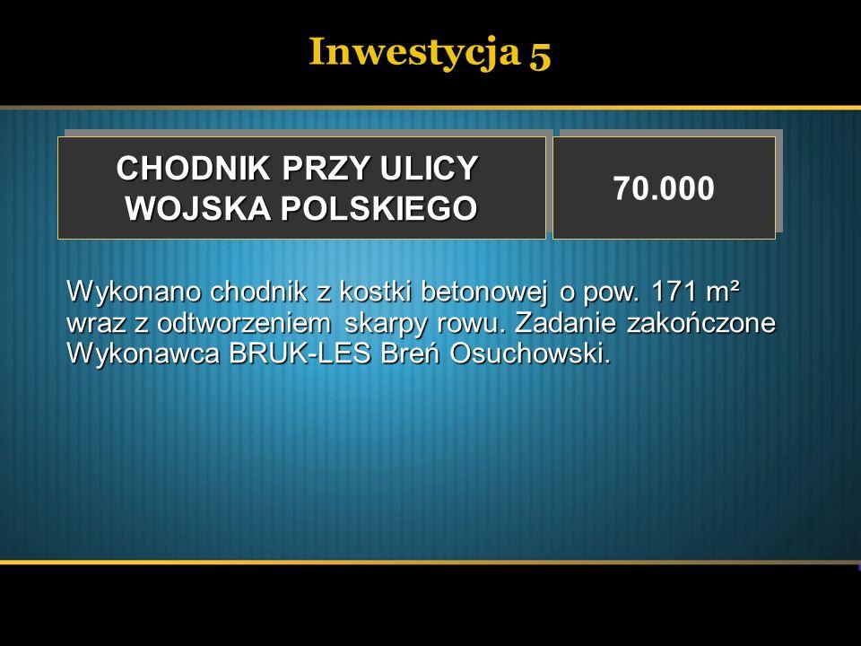 Inwestycja 6 BUDOWA DRÓG 2.000.000 Wydatki nie wygasające ze względu na przesunięcie terminu składania wniosków o środki unijne na rok 2008.