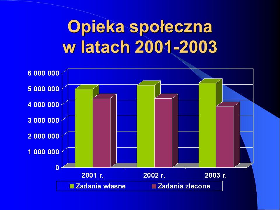Opieka społeczna w latach 2001-2003