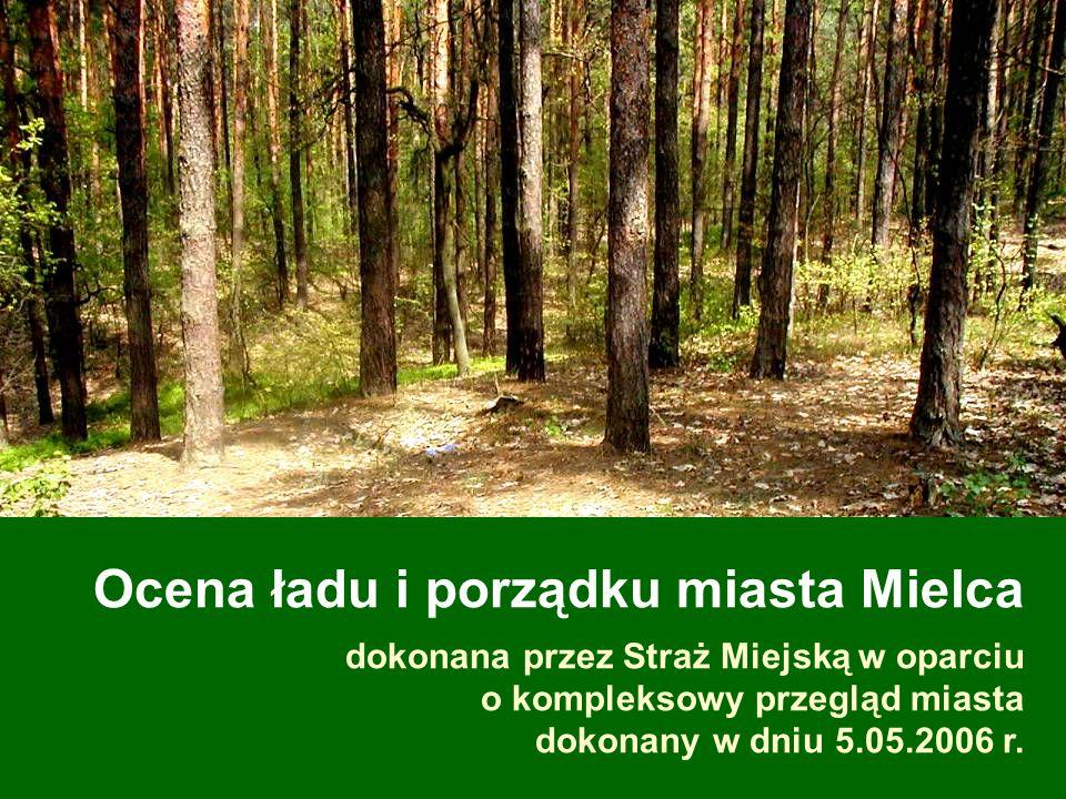 Ocena ładu i porządku miasta Mielca dokonana przez Straż Miejską w oparciu o kompleksowy przegląd miasta dokonany w dniu 5.05.2006 r.