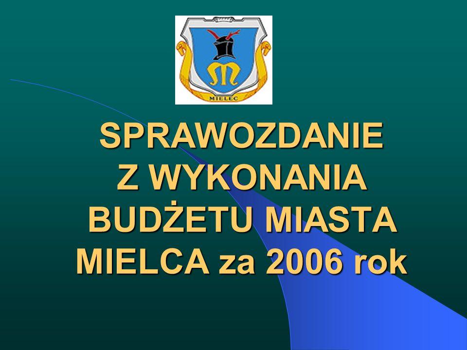 SPRAWOZDANIE Z WYKONANIA BUDŻETU MIASTA MIELCA za 2006 rok