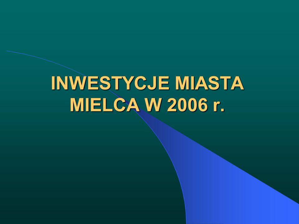 INWESTYCJE MIASTA MIELCA W 2006 r.
