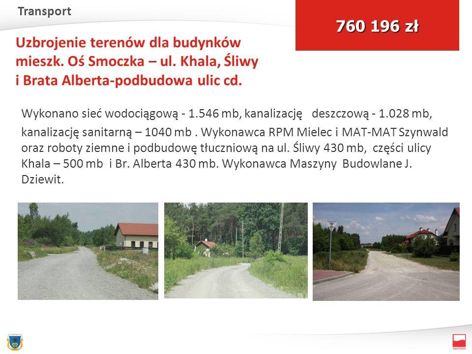 Uzbrojenie terenów dla budynków mieszk. Oś Smoczka – ul.