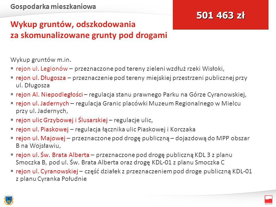 Wykup gruntów, odszkodowania za skomunalizowane grunty pod drogami Wykup gruntów m.in.