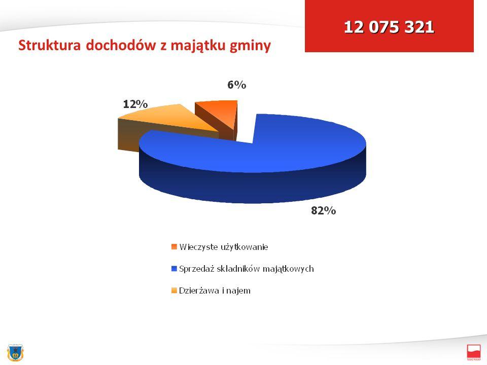 Struktura dochodów z majątku gminy 12 075 321
