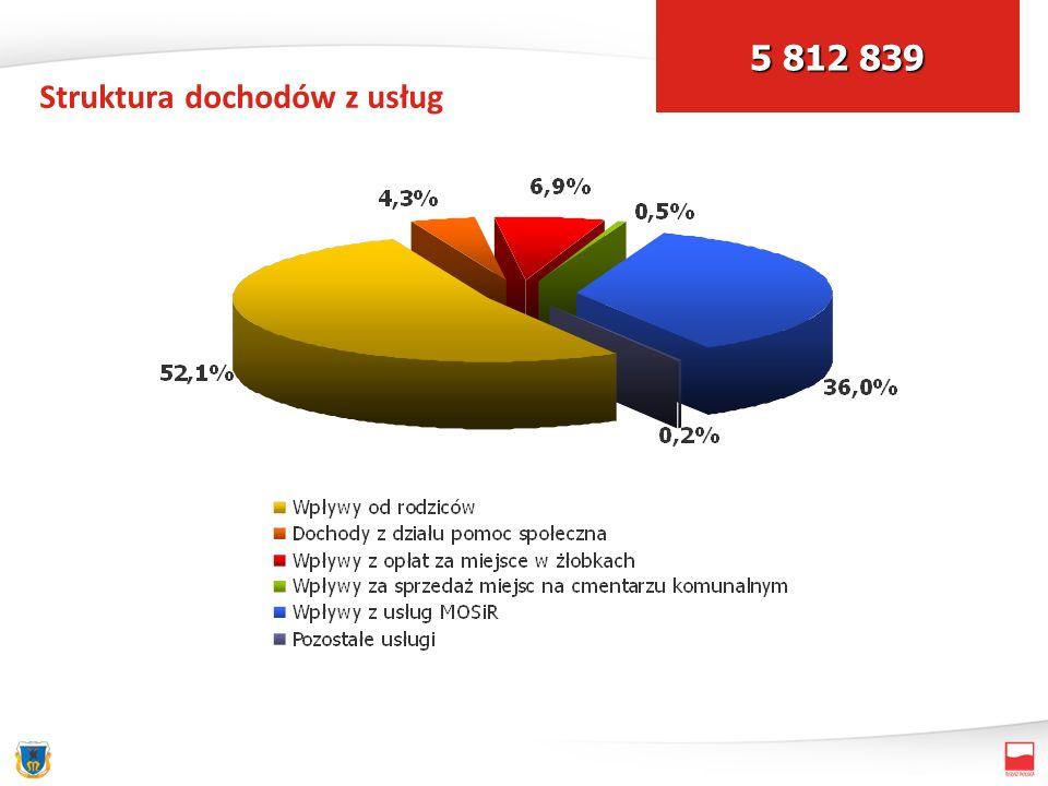 Struktura dochodów z usług 5 812 839