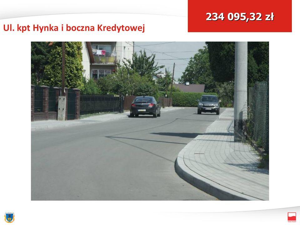 Ul. kpt Hynka i boczna Kredytowej 234 095,32 zł