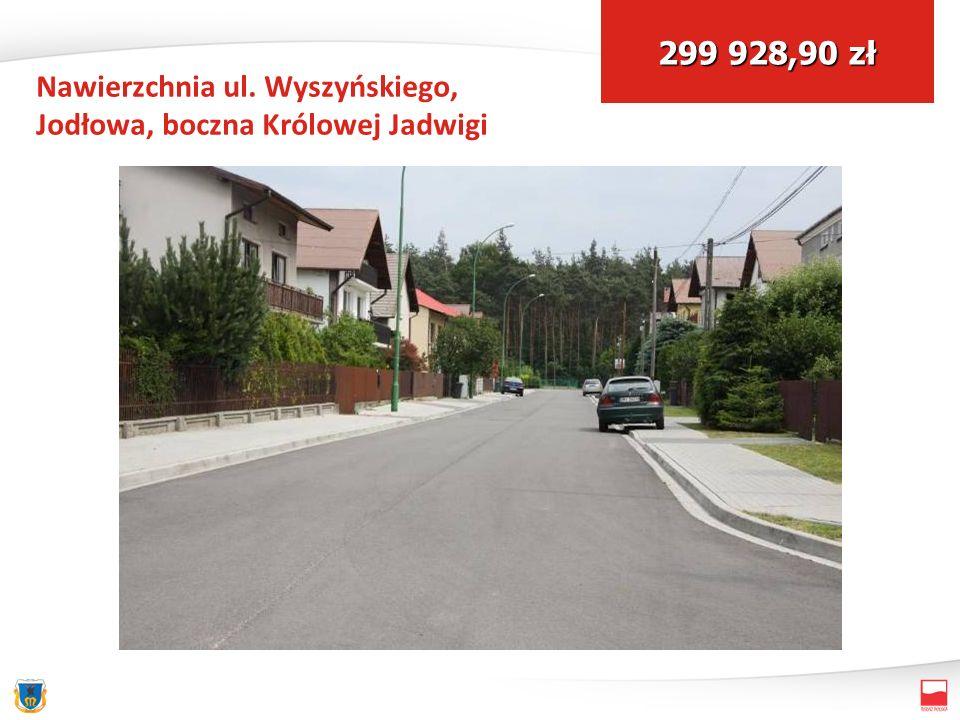 Nawierzchnia ul. Wyszyńskiego, Jodłowa, boczna Królowej Jadwigi 299 928,90 zł