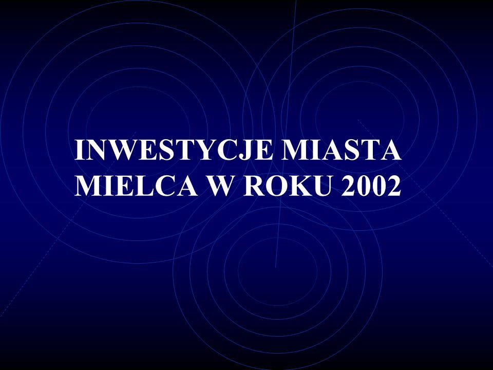 INWESTYCJE MIASTA MIELCA W ROKU 2002