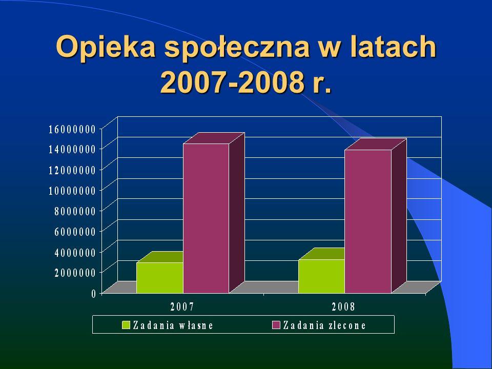 Opieka społeczna w latach 2007-2008 r.