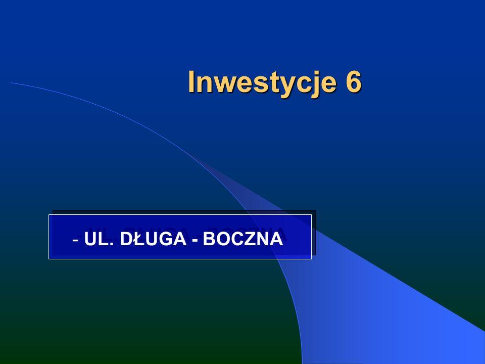 Inwestycje 6 - UL. DŁUGA - BOCZNA