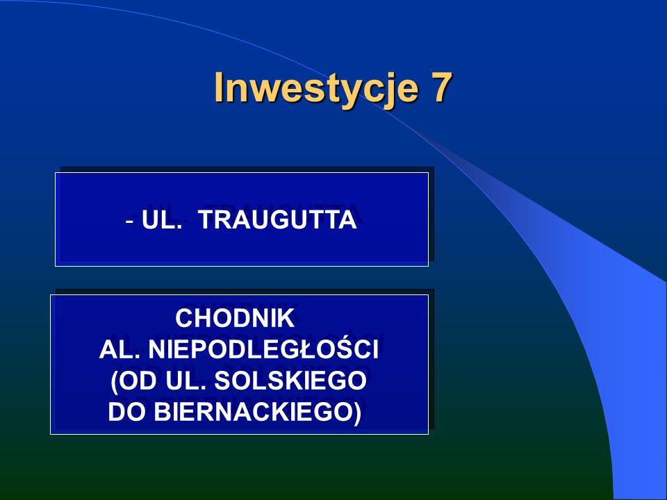 Inwestycje 7 - UL. TRAUGUTTA CHODNIK AL. NIEPODLEGŁOŚCI (OD UL.