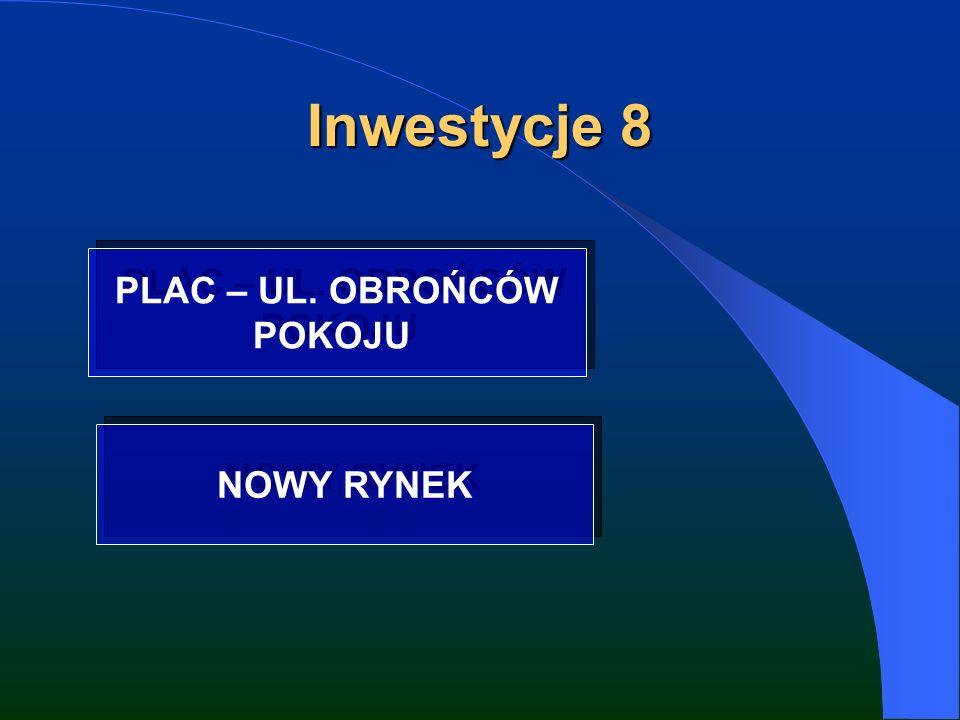Inwestycje 8 PLAC – UL. OBROŃCÓW POKOJU PLAC – UL. OBROŃCÓW POKOJU NOWY RYNEK