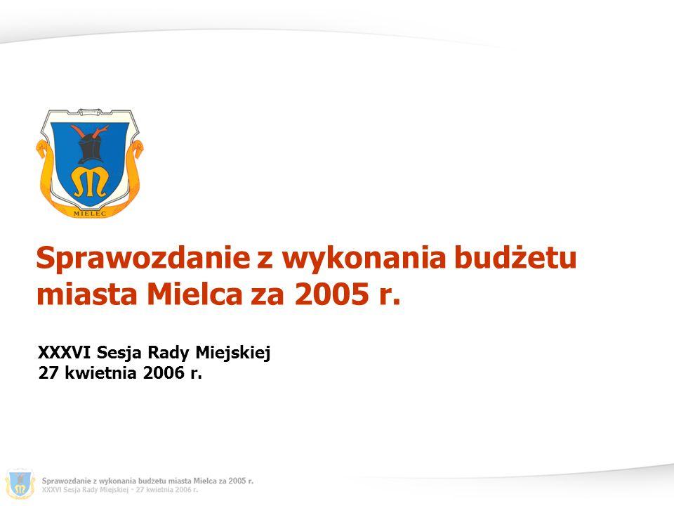 Dochody i wydatki miasta Mielca na dzień 31.12.2005 r.