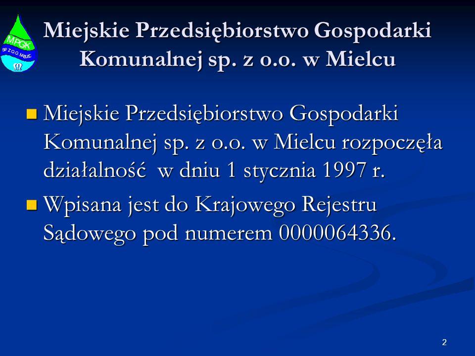 13 Miejskie Przedsiębiorstwo Gospodarki Komunalnej sp. z o.o. w Mielcu