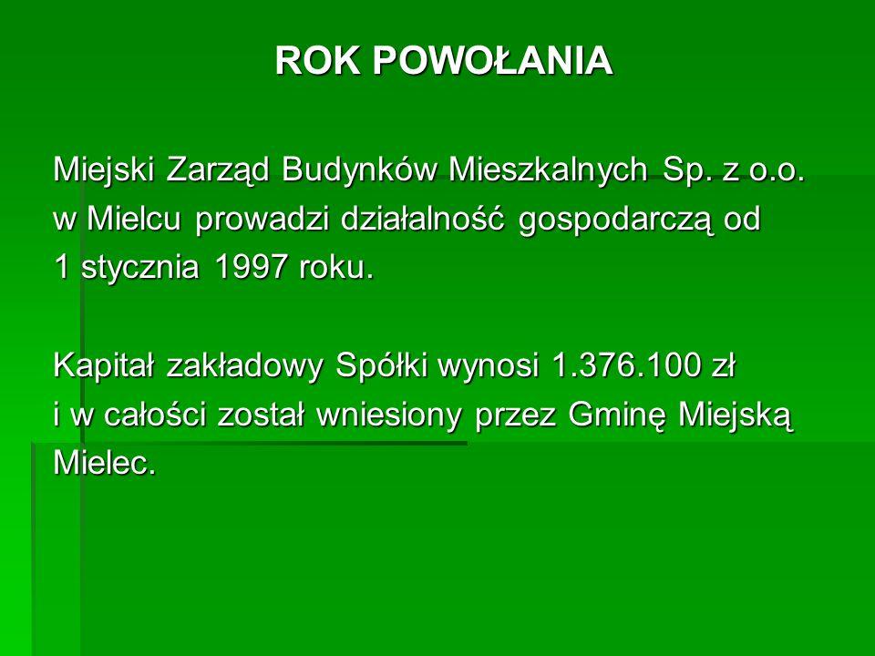 CEL FUNKCJONOWANIA I ZAKRES DZIAŁALNOŚCI MZBM Sp.z o.o.