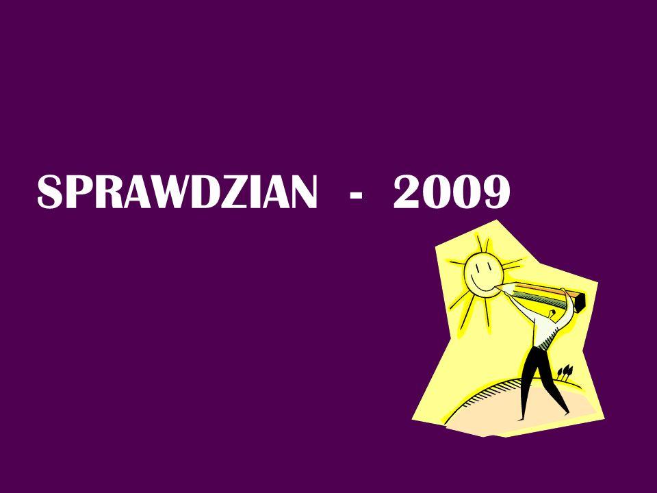 Liczba uczniów, którzy przystąpili do sprawdzianu w 2009 r.