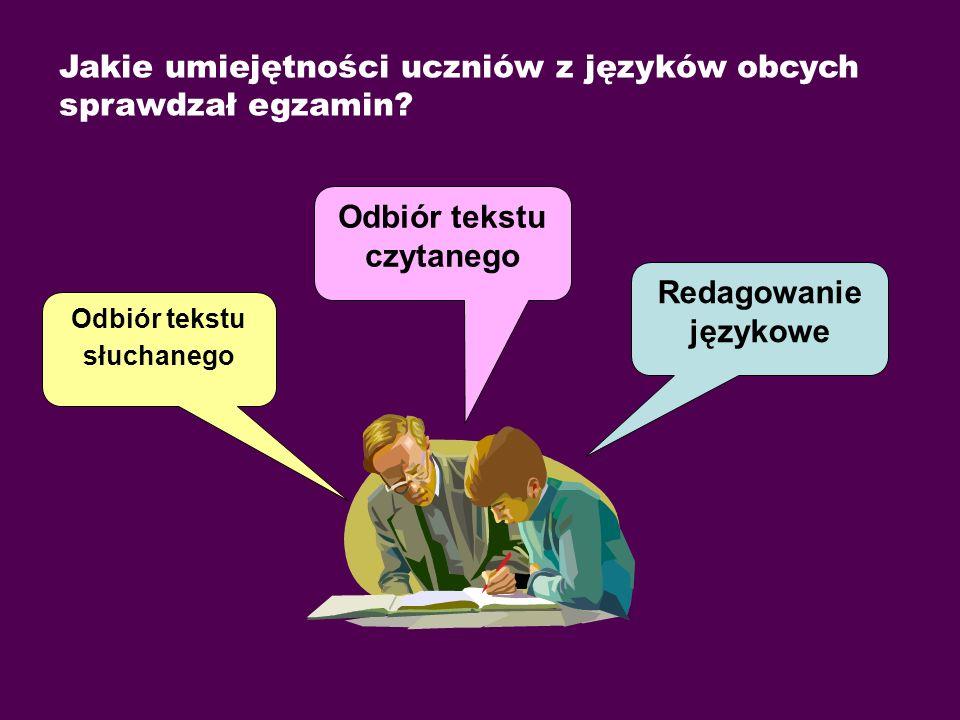 Poziom osiągnięć uczniów na egzaminie gimnazjalnym w 2009 r. z języka angielskiego