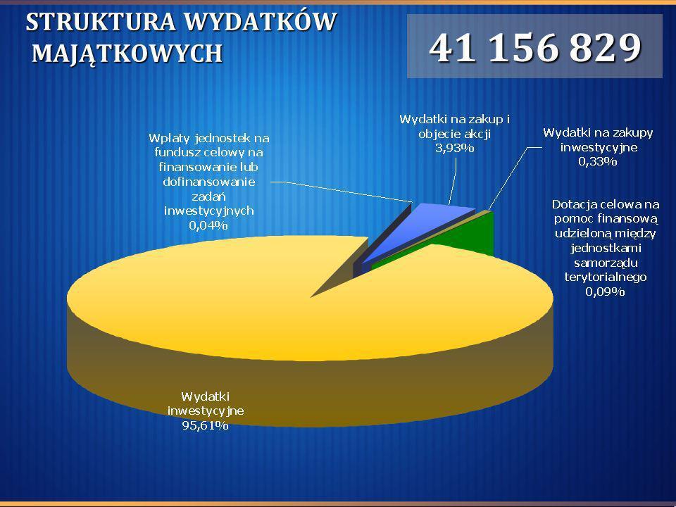 STRUKTURA WYDATKÓW MAJĄTKOWYCH 41 156 829
