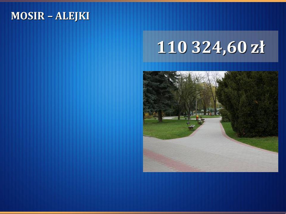 MOSIR – ALEJKI 110 324,60 zł