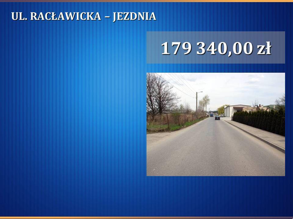 UL. RACŁAWICKA – JEZDNIA 179 340,00 zł