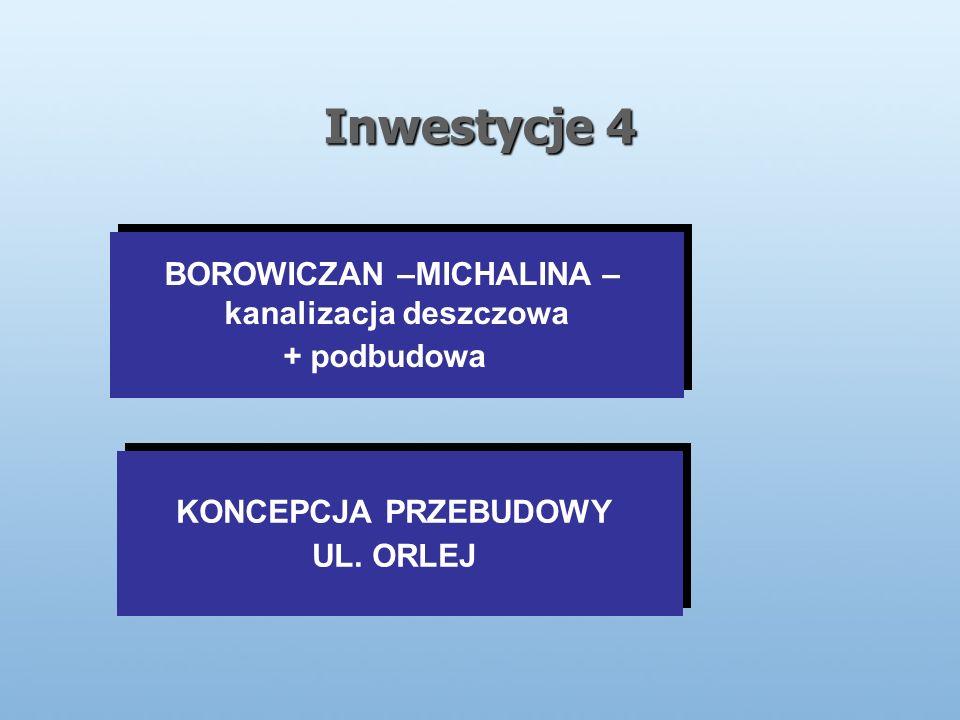 Inwestycje 4 KONCEPCJA PRZEBUDOWY UL.ORLEJ KONCEPCJA PRZEBUDOWY UL.