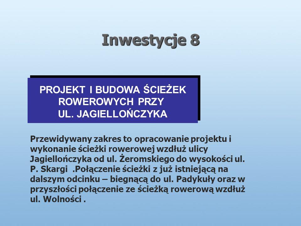 Inwestycje 8 PROJEKT I BUDOWA ŚCIEŻEK ROWEROWYCH PRZY UL.