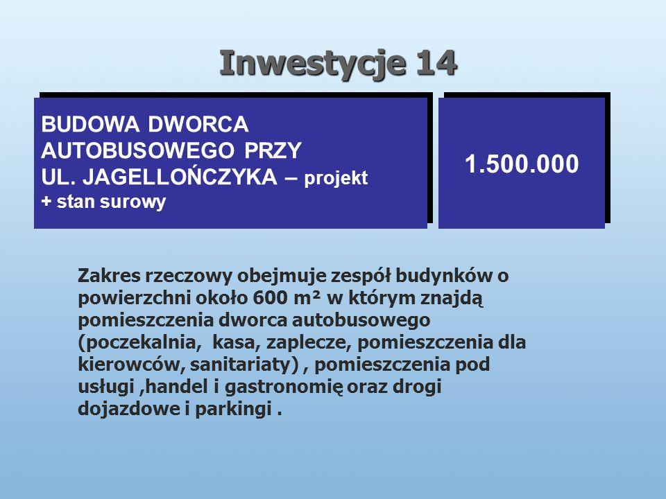 Inwestycje 14 BUDOWA DWORCA AUTOBUSOWEGO PRZY UL.