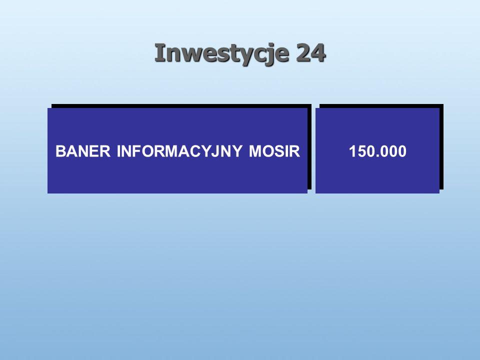 Inwestycje 24 BANER INFORMACYJNY MOSIR 150.000
