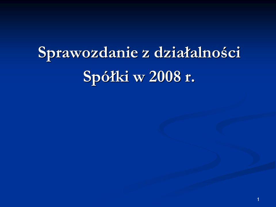 1 Sprawozdanie z działalności Spółki w 2008 r.