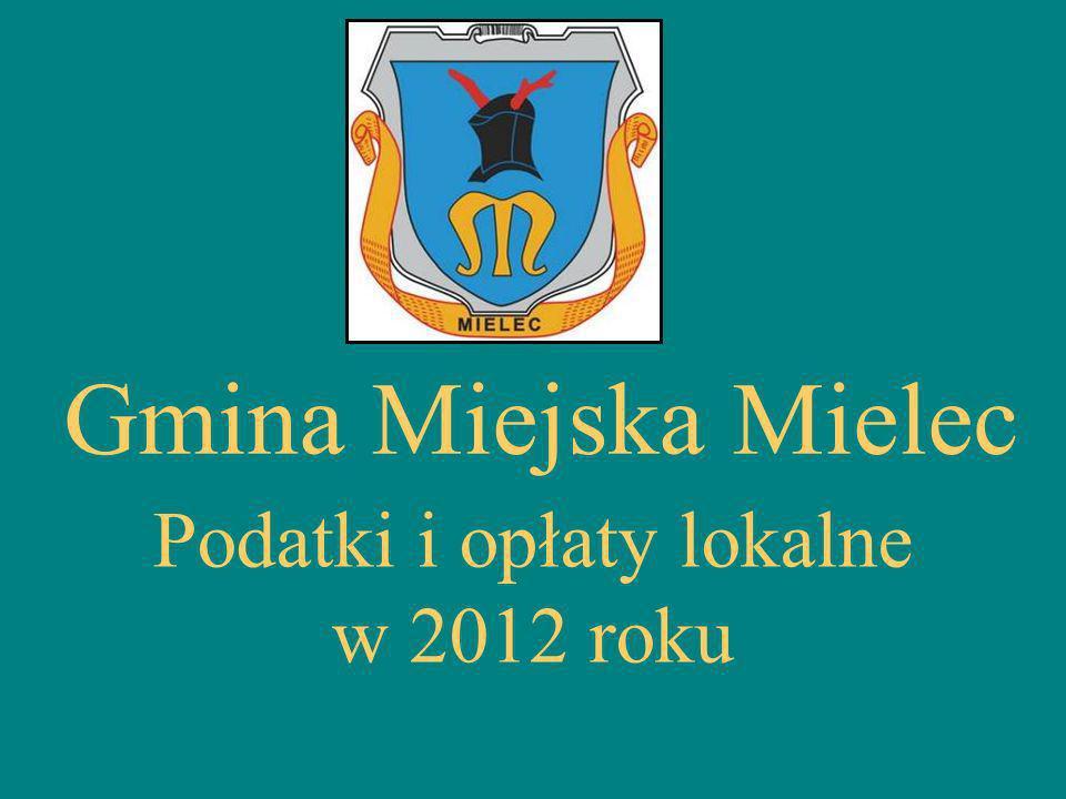 Gmina Miejska Mielec Podatki i opłaty lokalne w 2012 roku