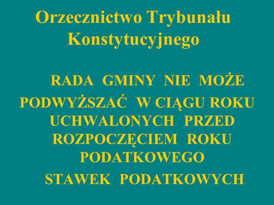Skutki podwyższenia stawek podatkowych dla budżetu gminy na 2012 rok cd.