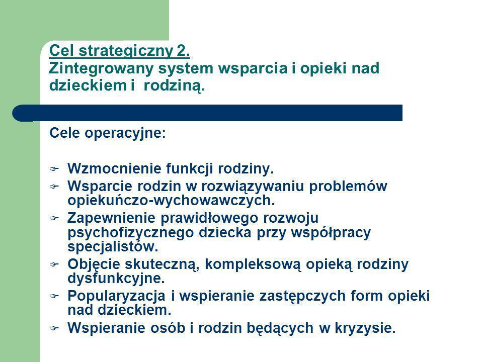 Cel strategiczny 3.Efektywny system wsparcia osób niepełnosprawnych, chorych i starszych.
