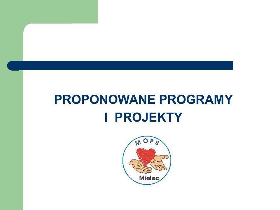 PROPONOWANE PROGRAMY I PROJEKTY