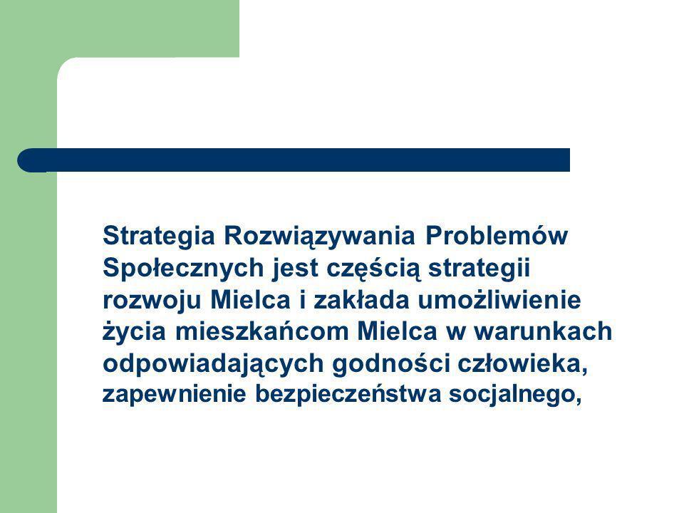 Strategia Rozwiązywania Problemów Społecznych jest częścią strategii rozwoju Mielca i zakłada umożliwienie życia mieszkańcom Mielca w warunkach odpowi