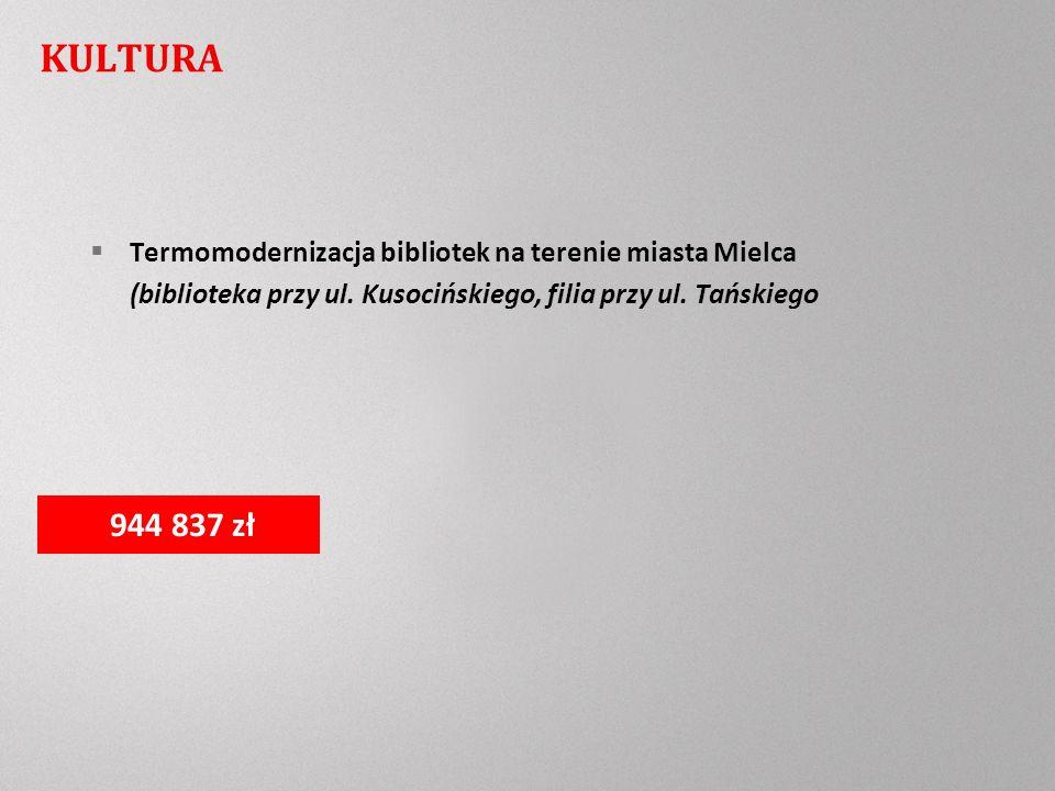 KULTURA Termomodernizacja bibliotek na terenie miasta Mielca (biblioteka przy ul.