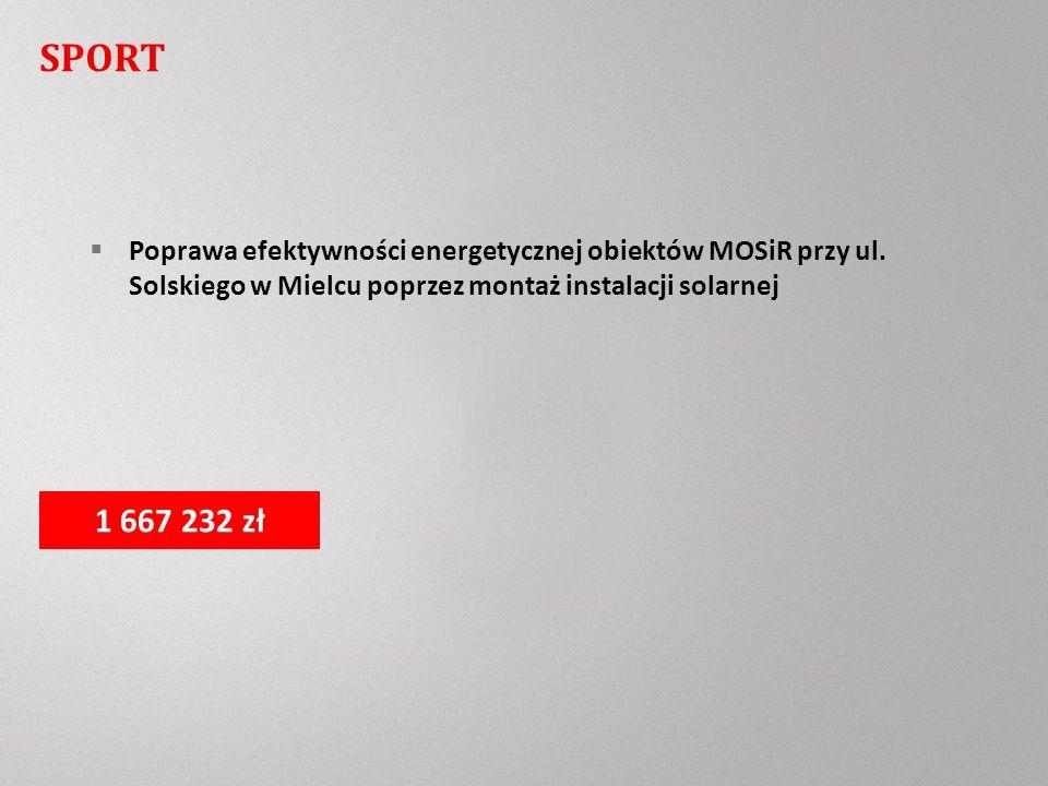 SPORT Poprawa efektywności energetycznej obiektów MOSiR przy ul.