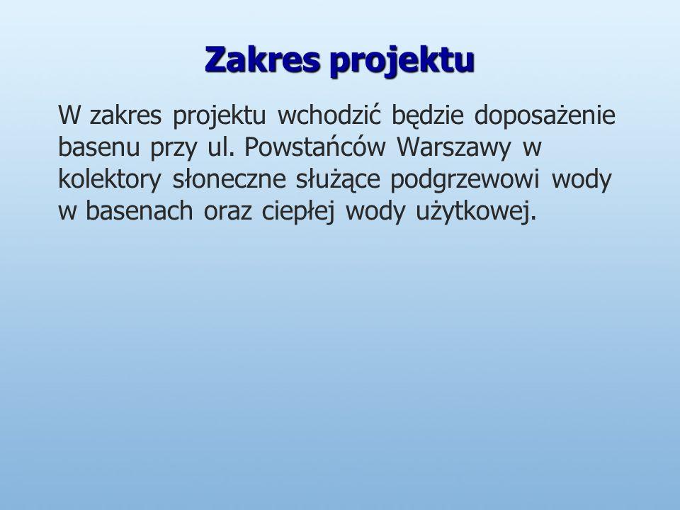 Zakres projektu W zakres projektu wchodzić będzie doposażenie basenu przy ul.