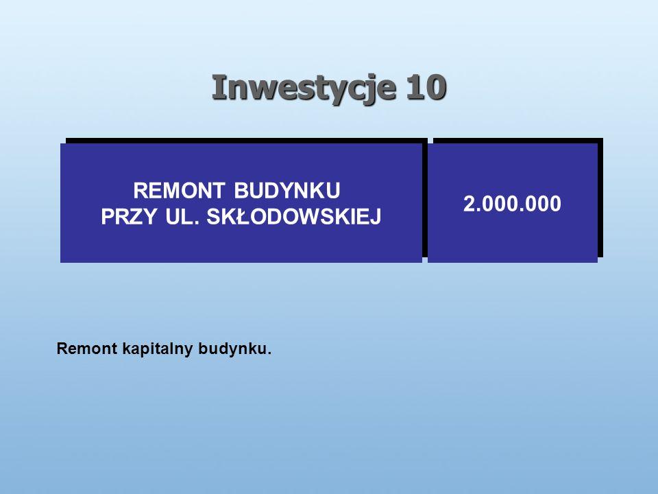 Inwestycje 10 Remont kapitalny budynku. REMONT BUDYNKU PRZY UL.