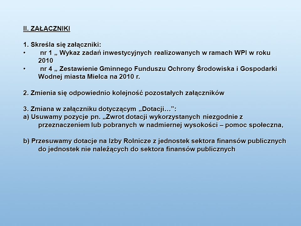 Wnioski złożone w 2009 roku przy współudziale Gminy Miejskiej Mielec