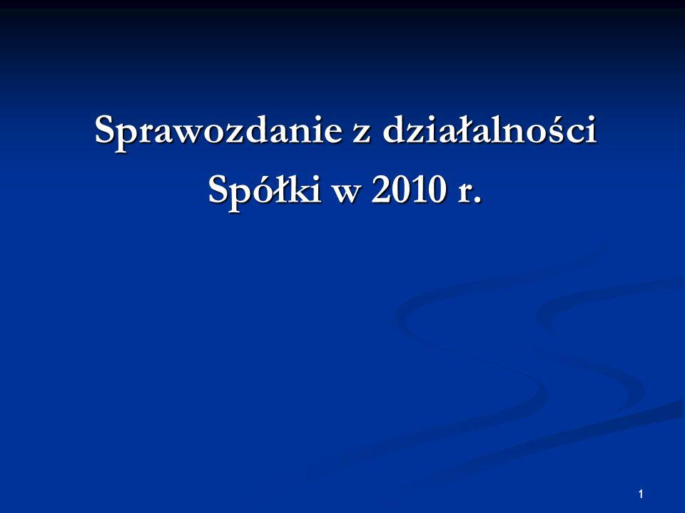 1 Sprawozdanie z działalności Spółki w 2010 r.