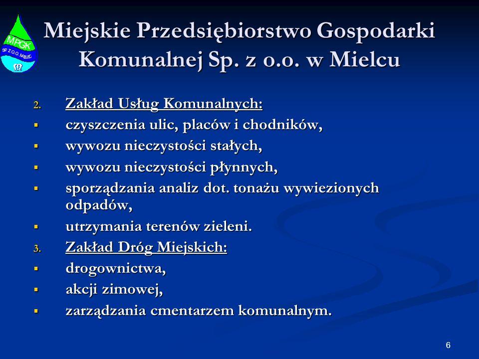 37 Miejskie Przedsiębiorstwo Gospodarki Komunalnej Sp.