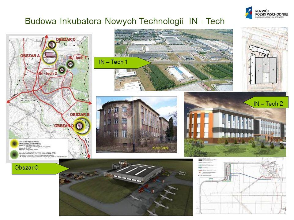 Budowa Inkubatora Nowych Technologii IN - Tech IN – Tech 1 IN – Tech 2 Obszar C IN – Tech 2