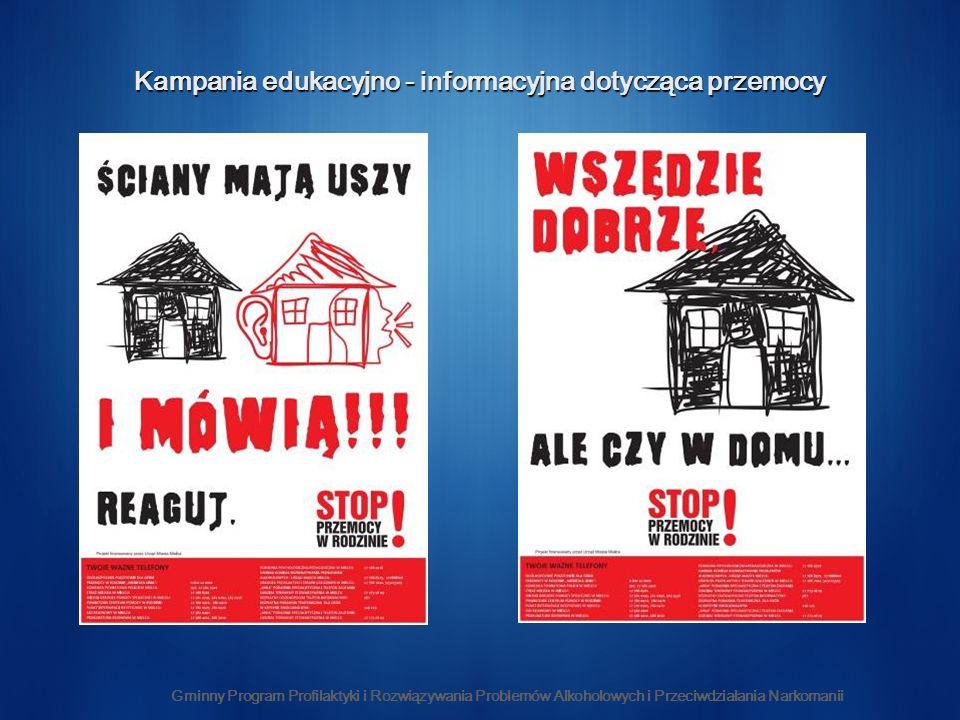 Kampania edukacyjno - informacyjna dotycząca przemocy Gminny Program Profilaktyki i Rozwiązywania Problemów Alkoholowych i Przeciwdziałania Narkomanii