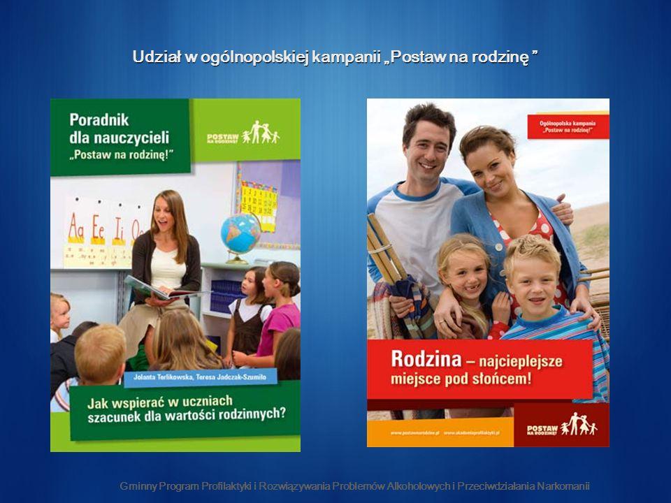 Udział w ogólnopolskiej kampanii Postaw na rodzinę Udział w ogólnopolskiej kampanii Postaw na rodzinę Gminny Program Profilaktyki i Rozwiązywania Problemów Alkoholowych i Przeciwdziałania Narkomanii