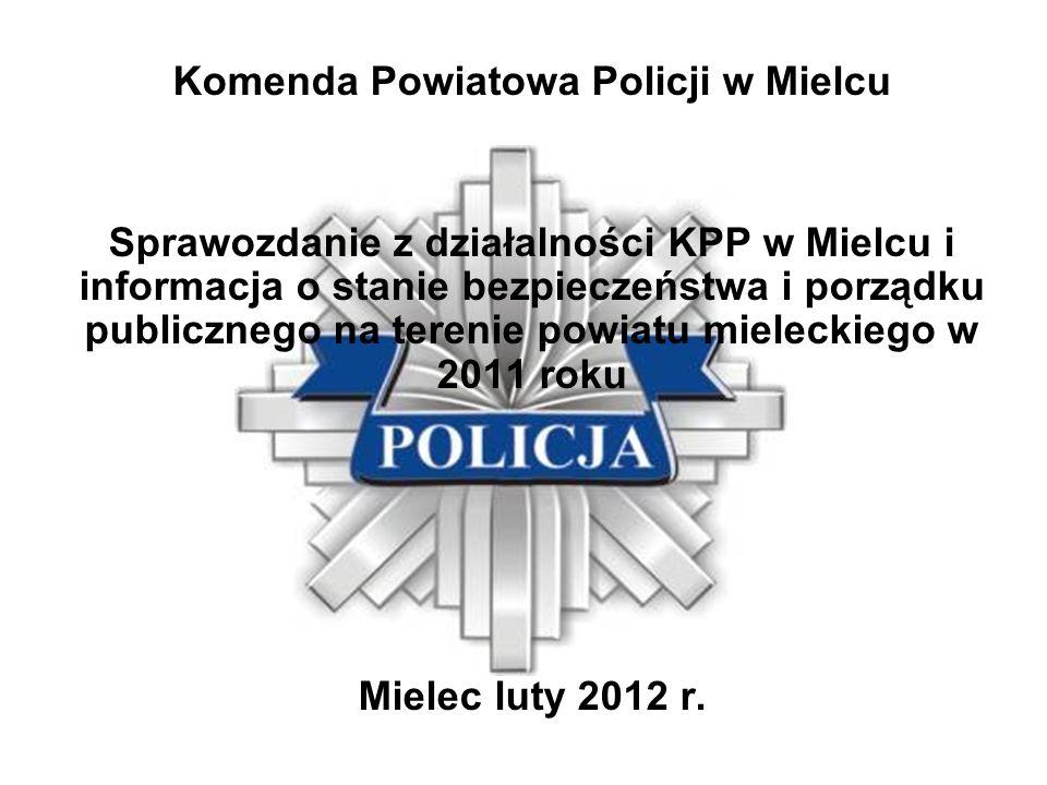 Komenda Powiatowa Policji w Mielcu Sprawozdanie z działalności KPP w Mielcu i informacja o stanie bezpieczeństwa i porządku publicznego na terenie pow